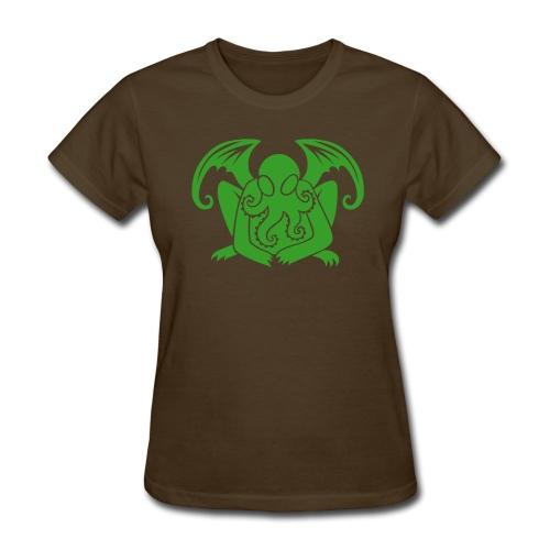 Cthulhu on Brown Women's - Women's T-Shirt