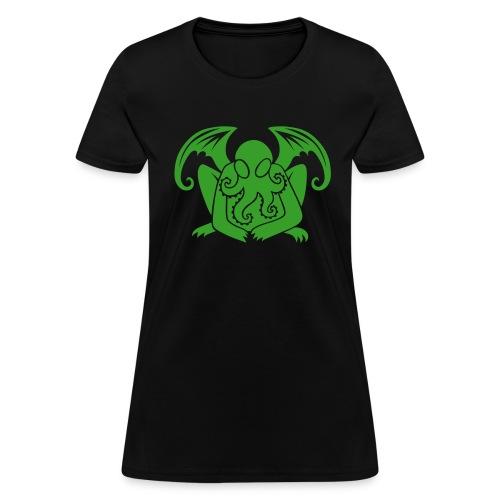 Cthulhu on Black Women's - Women's T-Shirt