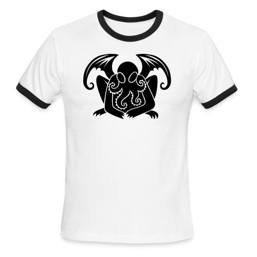 Cthulhu on Men's Ringer Shirt - Men's Ringer T-Shirt