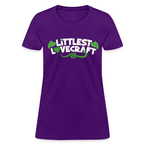 Littlest Lovecraft Logo on Purple Women's - Women's T-Shirt
