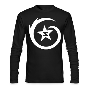 SWIRL Logo L/S - White on Black - Men's Long Sleeve T-Shirt by Next Level