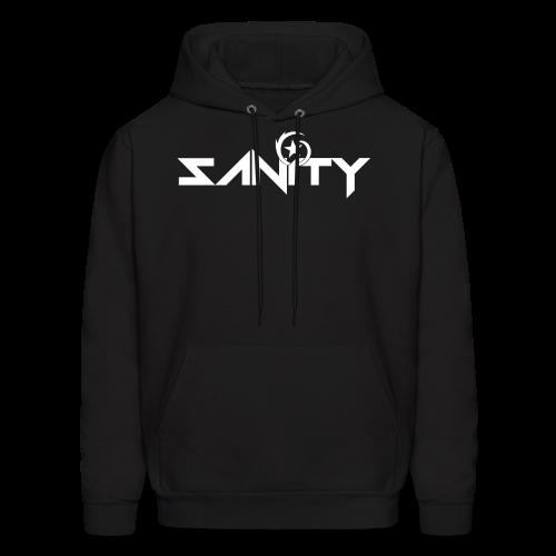 SANiTY Logo Hoodie - White on Color - Men's Hoodie