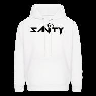 Hoodies ~ Men's Hoodie ~ SANiTY Logo Hoodie - Black on White