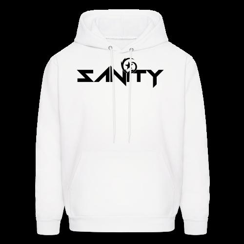 SANiTY Logo Hoodie - Black on White - Men's Hoodie