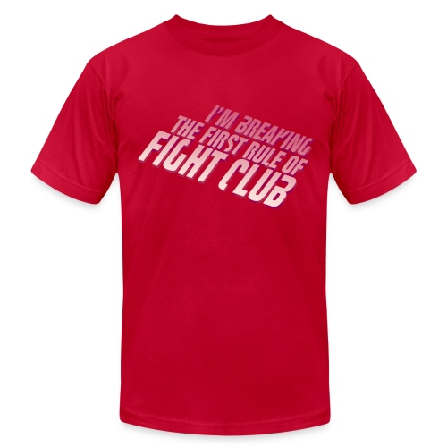 Don't Talk About Fight Club Men's Tee - Men's Fine Jersey T-Shirt