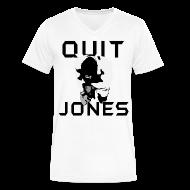 T-Shirts ~ Men's V-Neck T-Shirt by Canvas ~ Quit Jones VNECK