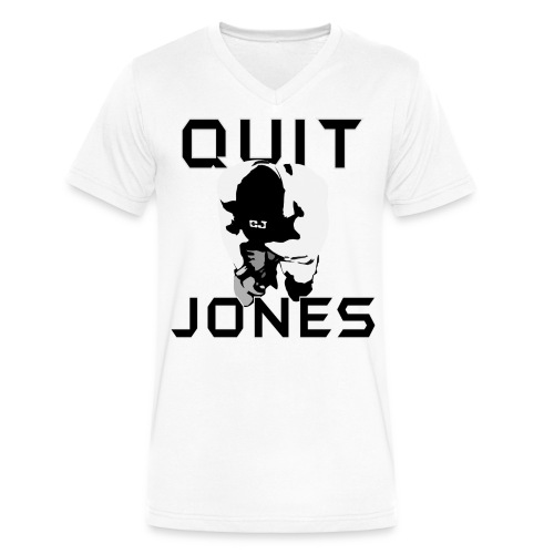 Quit Jones VNECK - Men's V-Neck T-Shirt by Canvas