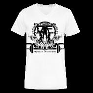 T-Shirts ~ Men's V-Neck T-Shirt by Canvas ~ Swole Crew V1 VECK