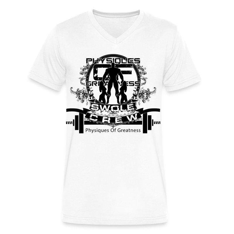 Swole Crew V1 VECK - Men's V-Neck T-Shirt by Canvas