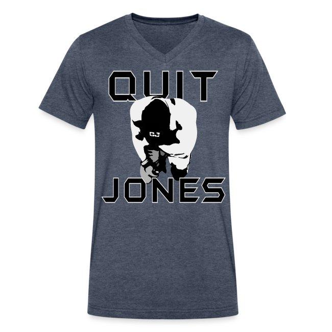 Quit Jones VNECK Black Text