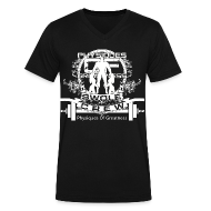 T-Shirts ~ Men's V-Neck T-Shirt by Canvas ~ Swole Crew V1 VECK White