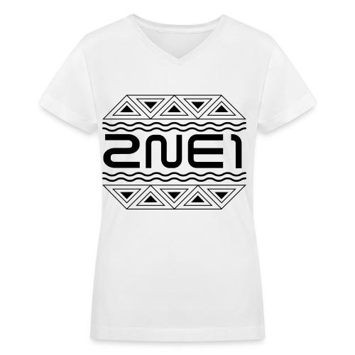 Women's 2NE1 Logo V-Neck - Women's V-Neck T-Shirt