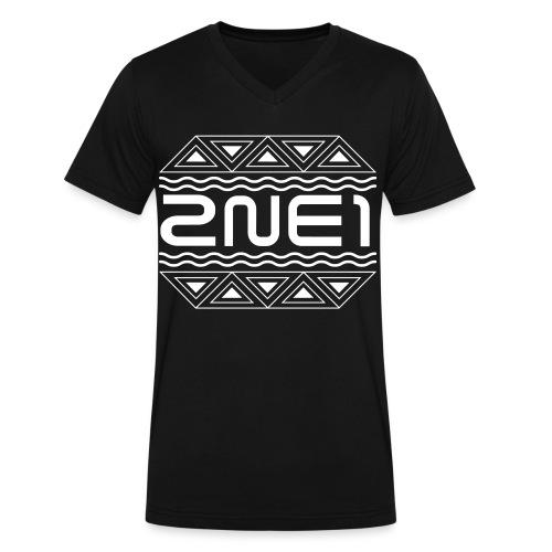 Men's 2NE1 Logo V-Neck - Men's V-Neck T-Shirt by Canvas
