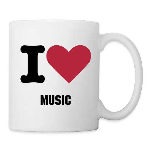 I Love Music Coffee Mug - Coffee/Tea Mug