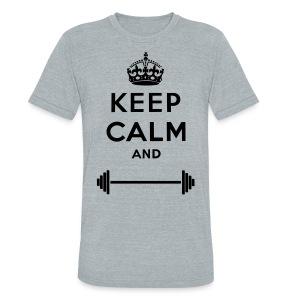 Keep calm and lift - Unisex Tri-Blend T-Shirt