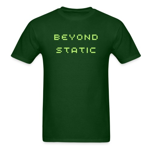 Beyond Static green matrix - Men's T-Shirt