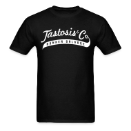 T-Shirts ~ Men's T-Shirt ~ Tastosis & Co - Men's Black with White