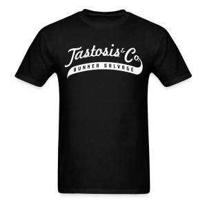 Tastosis & Co - Men's Black with White - Men's T-Shirt