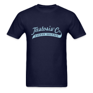 T-Shirts ~ Men's T-Shirt ~ Tastosis & Co - Men's Navy with Light Blue