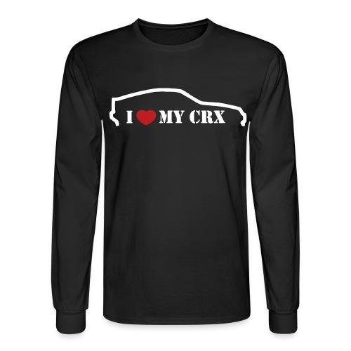I Heart MY CRX Long Sleeve!  White outline  - Men's Long Sleeve T-Shirt