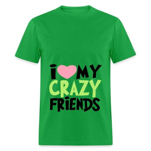 crzy friends  - Men's T-Shirt