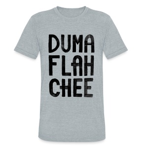 DUMAFLAHCHEE Men's Grey - Unisex Tri-Blend T-Shirt by American Apparel
