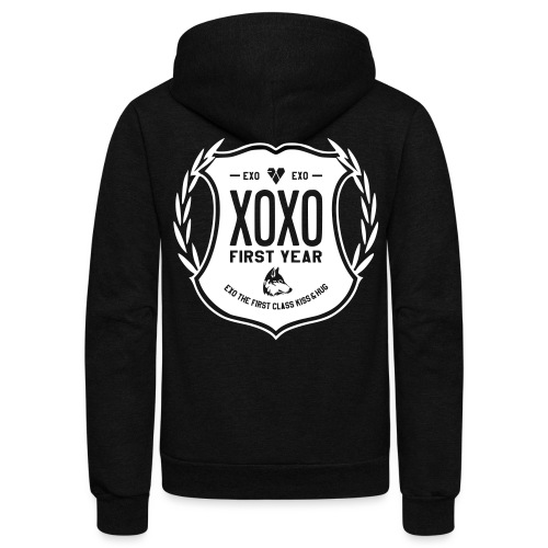 XOXO First Year-Double Sided - Unisex Fleece Zip Hoodie by American Apparel