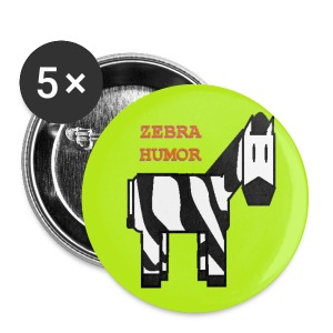 Green Zebra Humor Button - Small Buttons