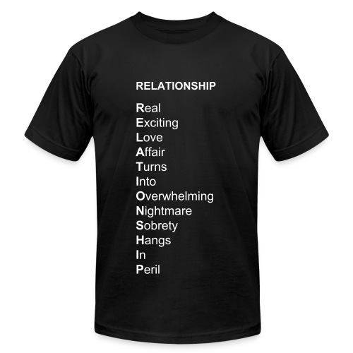 RELATIONSHIP Buseyism Men's T-Shirt by American Apparel - Men's Fine Jersey T-Shirt