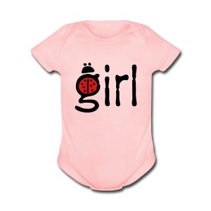 girl ladybug Baby short sleeve one piece - Short Sleeve Baby Bodysuit