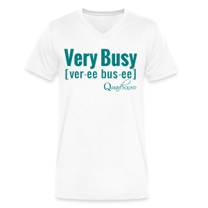 Very Busy - Men's V-Neck T-Shirt by Canvas