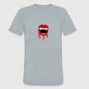 Vampire mouth T-Shirts - Unisex Tri-Blend T-Shirt by American Apparel