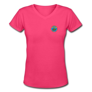 Women's Hurdle Turtle B-day Badge Tee - Women's V-Neck T-Shirt
