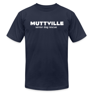 Men's Muttville (smaller back logo)  Any Color tee - white logo - Men's T-Shirt by American Apparel