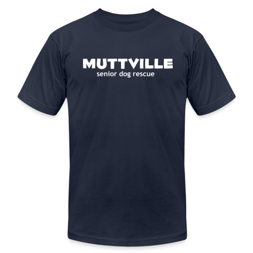 Men's Muttville (smaller back logo)  Any Color tee - white logo - Men's  Jersey T-Shirt