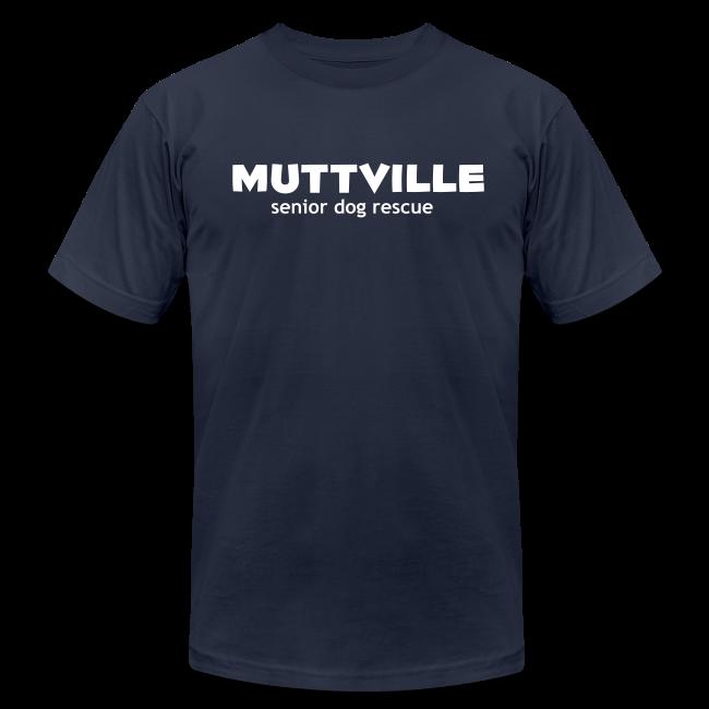 Men's Muttville (smaller back logo)  Any Color tee - white logo