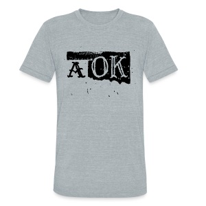 A OK grey - Unisex Tri-Blend T-Shirt by American Apparel