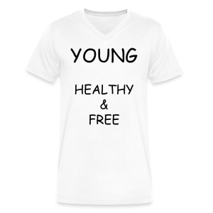Young Healthy & Free V-Neck T-Shirt - Men's V-Neck T-Shirt by Canvas