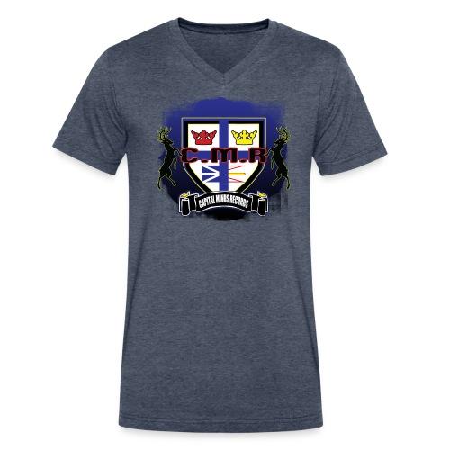 mens V neck NFLD coat of arms  - Men's V-Neck T-Shirt by Canvas