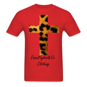 Leopard Cross - Men's T-Shirt