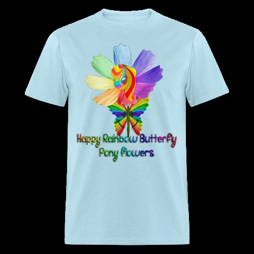 Happy Rainbow Butterfly Pony Flowers