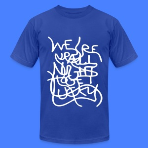 We're Up All Night To Get Lucky T-Shirts - Men's T-Shirt by American Apparel