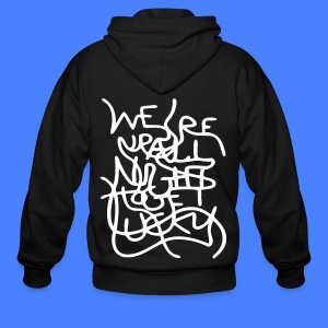 We're Up All Night To Get Lucky Zip Hoodies & Jackets - Men's Zip Hoodie