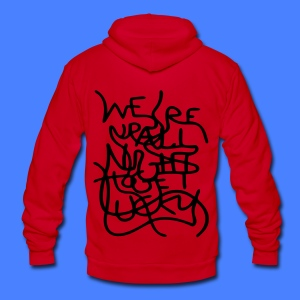 We're Up All Night To Get Lucky Zip Hoodies & Jackets - Unisex Fleece Zip Hoodie by American Apparel