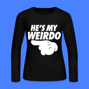 He's My Weirdo (Pointing Left) Long Sleeve Shirts - Women's Long Sleeve Jersey T-Shirt