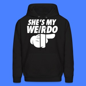 She's My Weirdo (Pointing Right) Hoodies - Men's Hoodie