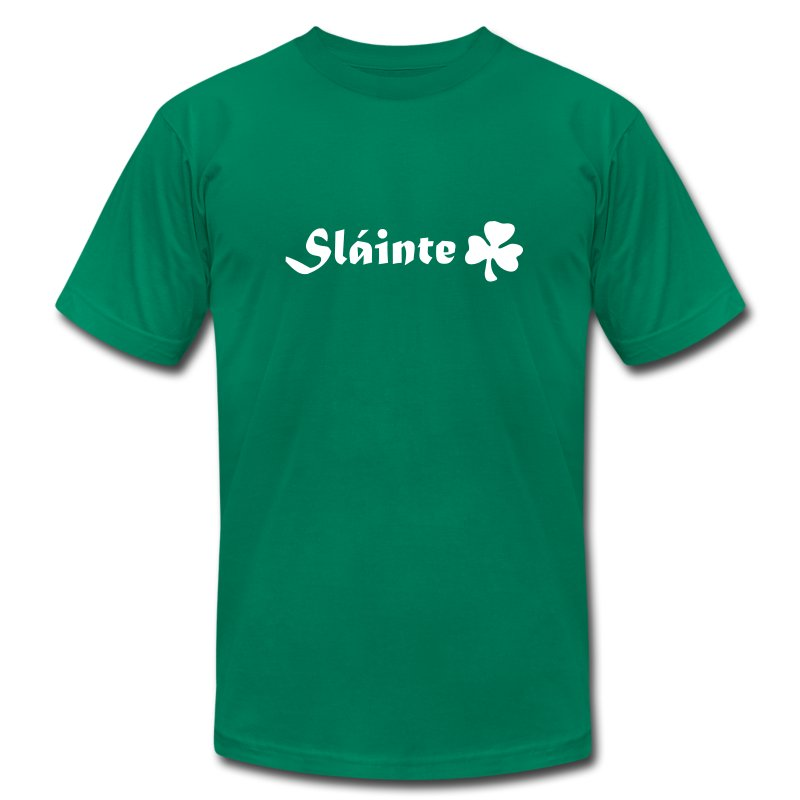 sláinte st. patrick´s day T-Shirts - Men's T-Shirt by American Apparel