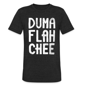 DUMAFLAHCHEE Men's Heather Black - Unisex Tri-Blend T-Shirt by American Apparel