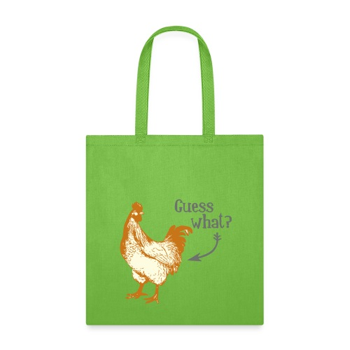 Guess What Chicken Butt Tote Bag (lime green) - Tote Bag