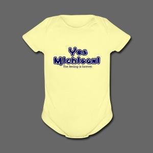 Yes Michigan! - Short Sleeve Baby Bodysuit